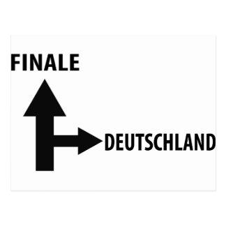 finale deutschland icon postcard
