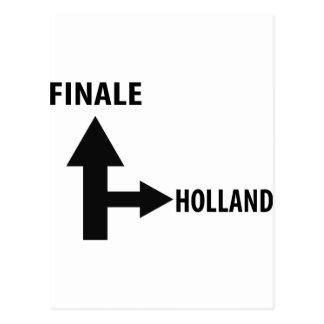 finale holland icon postcard