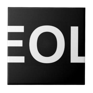 Finales de EOL de la vida Azulejo Cuadrado Pequeño