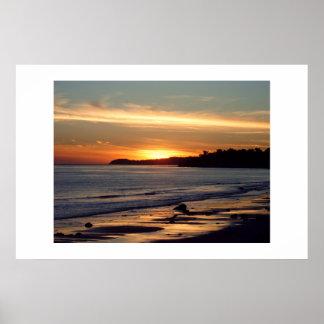 Finales de la puesta del sol de los días póster