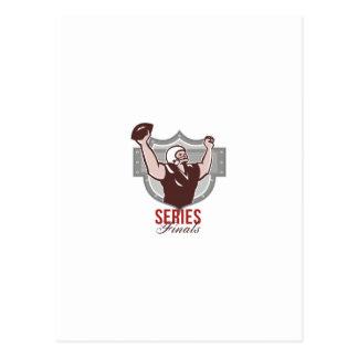 Finales de la serie del fútbol americano retros postales
