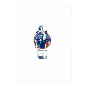Finales del partido del campeonato del fútbol postales