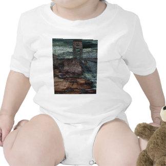 Finales destruido puente abstracto de días trajes de bebé