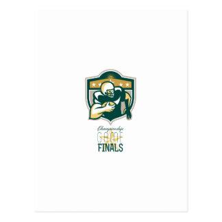 Finales QB del partido del campeonato del fútbol Postal
