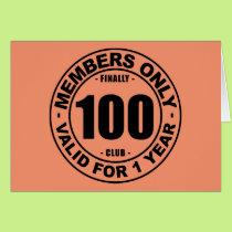 Finally 100 club card