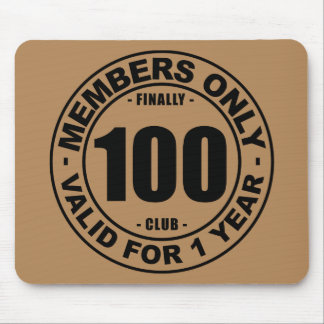 Finally 100 club mouse pad
