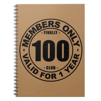 Finally 100 club notebook