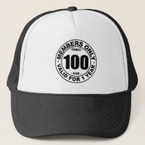 Finally 100 club trucker hat