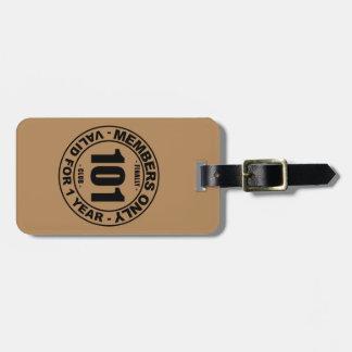 Finally 101 club bag tag