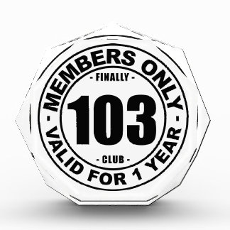 Finally 103 club award