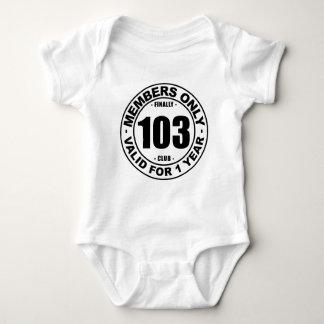 Finally 103 club baby bodysuit