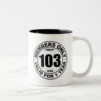 Finally 103 club Two-Tone coffee mug