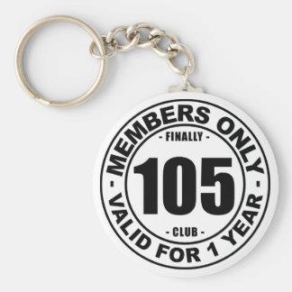 Finally 105 club basic round button keychain