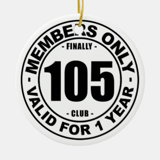 Finally 105 club ceramic ornament