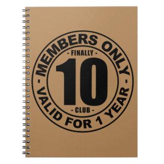Finally 10 club notebook