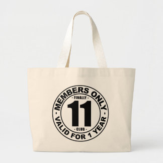 Finally 11 club large tote bag
