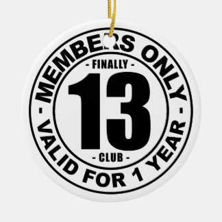 Finally 13 club ceramic ornament