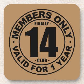 Finally 14 club beverage coaster