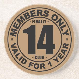 Finally 14 club drink coaster