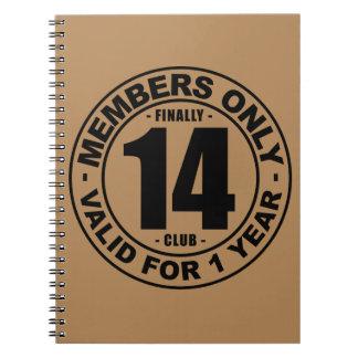 Finally 14 club notebook