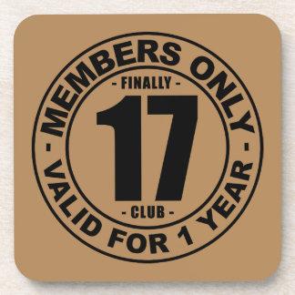 Finally 17 club drink coaster