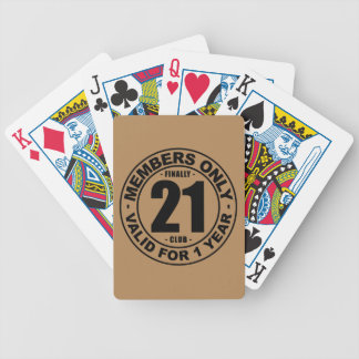 Finally 21 club bicycle playing cards