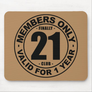 Finally 21 club mouse pad