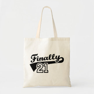 Finally 21 years birthday canvas bag