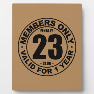 Finally 23 club plaque