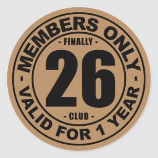 Finally 26 club classic round sticker