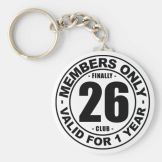 Finally 26 club keychain