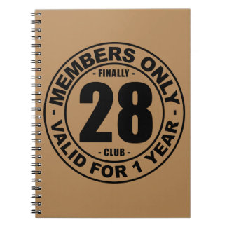 Finally 28 club notebook