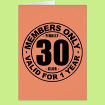 Finally 30 club card