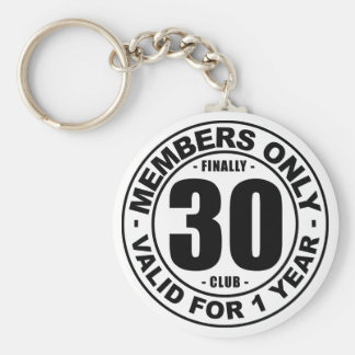 Finally 30 club keychain