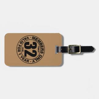 Finally 32 club bag tag