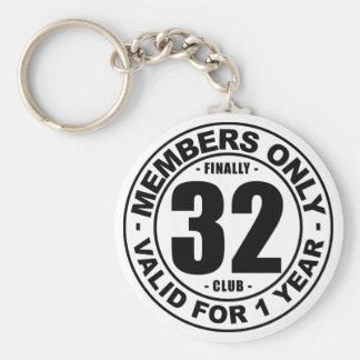 Finally 32 club keychain