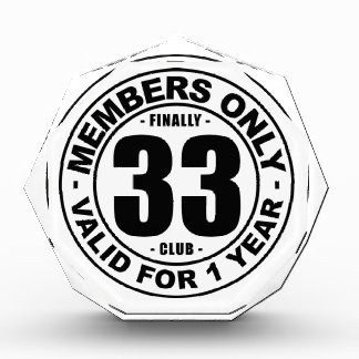 Finally 33 club award