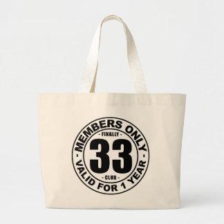Finally 33 club large tote bag
