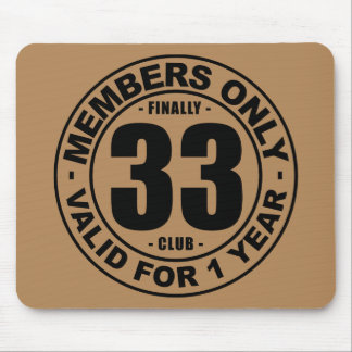 Finally 33 club mouse pad