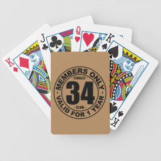 Finally 34 club bicycle playing cards