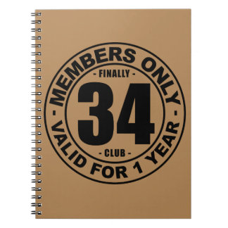 Finally 34 club notebook