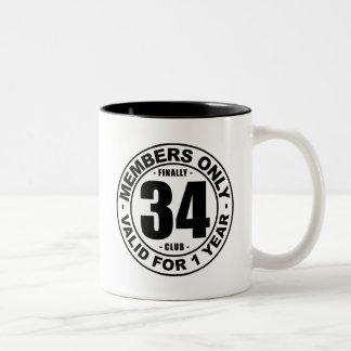 Finally 34 club Two-Tone coffee mug