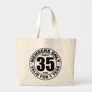 Finally 35 club large tote bag