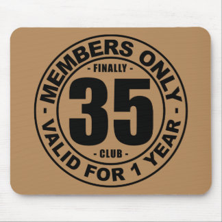 Finally 35 club mouse pad