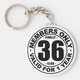 Finally 36 club keychain