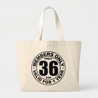 Finally 36 club large tote bag