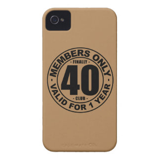 Finally 40 club iPhone 4 cover