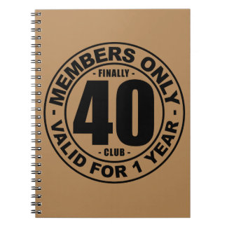 Finally 40 club notebook