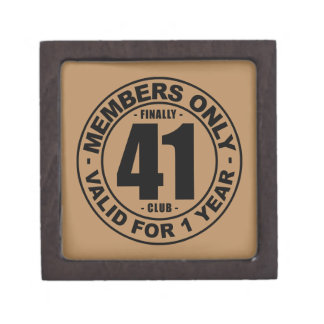 Finally 41 club keepsake box
