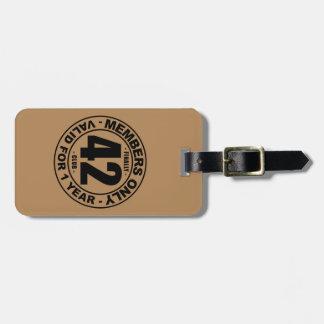 Finally 42 club bag tag